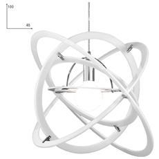 I-ATOM / S1 BCO - Lampadario sospeso bianco con anelli intrecciati 60 watt E27