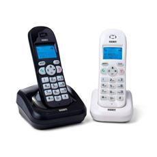Telefono Cordless Dect Gap Con Portatile Addizionale - Display E Tastiera Retroilluminati - Vivavoce - Vega Twin B&W
