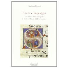Essere e linguaggio. Una lettura della terza parte di �Verit� e metodo� di H. G. Gadamer