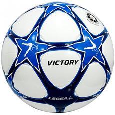 Victory Bianco / azzurro Pallone Calcio Kit Risparmio Misura 4