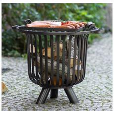 Griglia Treppiedi 180cm Con Barbecue 30cm In Acciaio Da Giardino Korono Home & Garden Outdoor Cooking & Eating