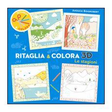 Le stagioni. Ritaglia & colora 3D