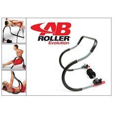 Attrezzo Palestra Ab Roller Evolution Per Allenamento Muscoli Addominali Superiori Ed Inferiori + Dvd