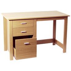 Montrose - Deposito Home Office Desk / Workstation - Faggio 76a X 120l X 50p Cm