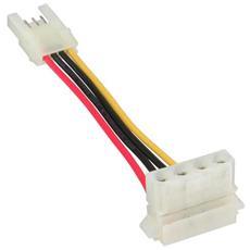 """cavo adattatore alimentazione interna da alimentatore atx 3,5"""" (floppy) a 5,25"""" 4pin (hdddvd) , 6cm"""