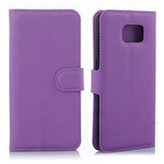 Custodia cover Portafogli wallet Viola per Samsung Galaxy S6 + pellicola protettiva