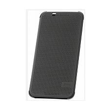 Dot view flip cover warm black orig htc desire 620