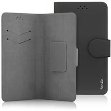 """Classic Detachable Custodia Universale a Libro per Dispositivi fino a 5"""" Colore Nero"""