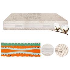 Materasso Memory Foam Singolo 90x200 Con Tessuto In Cotone Organico Sfoderabile Lavabile In Lavatrice