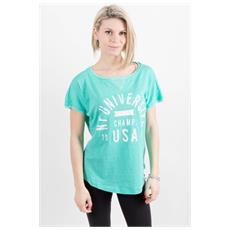 T-shirt Donna Morbida Verde L