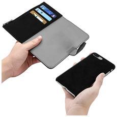 Custodia Iphone 7 Plus / 8 Plus Portacarte Cover Amovibile Forcell - Nero