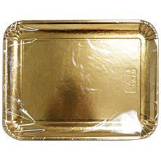 Vassoio Carta Rettan. oro 31x42 Cm. x 2 Pezzi 63076 - Vaschette Per Alimenti