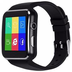 "Smartwatch X6 Display 1.54"" con Scheda SIM e SD Card Bluetooth Camera 1.3Mpx Nero – Europa"