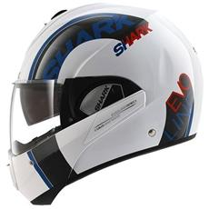 Casco Modulare Evoline 3 Drop Xs Bianco / blu / rosso