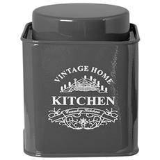 Barattolo Metallo Cucina Antracite Cm12 Contenitori Per Alimenti