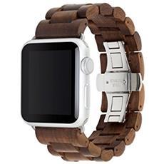 EcoStrap Apple Watch nastro 42mm, argento noce