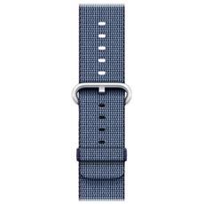 Cinturino in nylon intrecciato blu notte (38 mm)