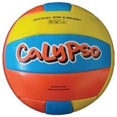 Pallone Calypso Azzurro Arancione Giallo Beach Volley Pallavolo Spiaggia Mare Gonfiabile Smile