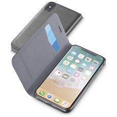 Flip Cover Custodia per iPhone X Colore Nero