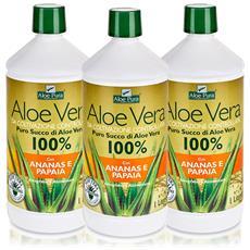 Optima Puro Succo Di Aloe Vera Con Ananas E Papaia, 3 X 1 L