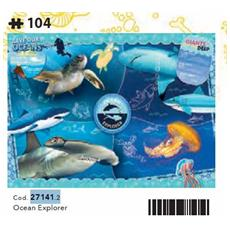 27141 - National Geographic Kids - Ocean Explorer - 104 Pezzi - Made In Italy - Puzzle Bambini 6 Anni +