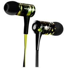 Auricolari in-ear Spray Stereo con microfono e rem - Nero / Verde
