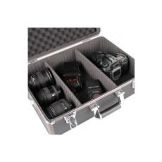 mantona aluminio Foto valigia Basic M nero / marrone