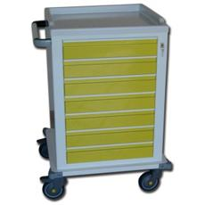 Modular Trolley - Painted Steel - 7 Small Drawers