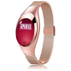 Smart Band Fitness Orologio Donna Z18 Bluetooth Cardio Contapassi Calorie Oro Rosa
