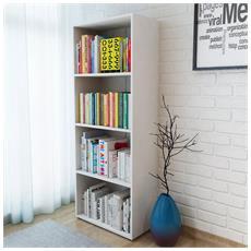 Libreria In Truciolato 60x31x155 Cm Bianca