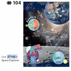 27142 - National Geographic Kids - Space Explorer - 104 Pezzi - Made In Italy - Puzzle Bambini 6 Anni +