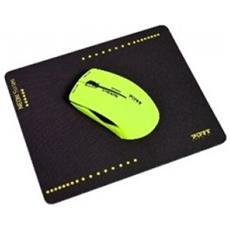 900502 Bluetooth 1200DPI Ambidestro Giallo mouse