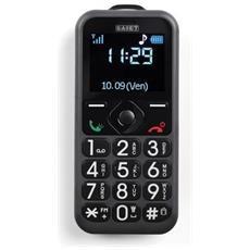 """Pronto Senior Phone Nero Display 1.8"""" +Slot MicroSD con Tasti Grandi + Tasto SOS - Italia"""