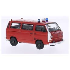 Prem13055 Vw T2b Box Van Feuerwehr Red / white 1:43 Modellino