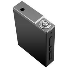 PLENUE D, MP3, Avanzamento rapido, Ritorno rapido, Pause, Nero, Argento, Manopola, Flash-media, MicroSD (TransFlash)