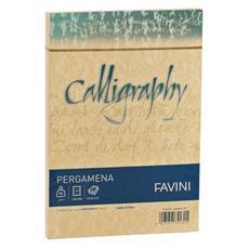 conf. 25 Buste Calligraphy Pergamena 90g / m2 12x18 oro A57W20