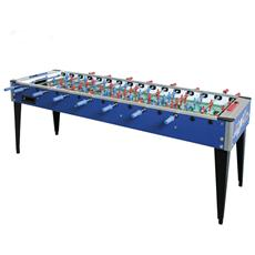Biliardino calciobalilla calcetto calcio college 4x4 tavolo 8 giocatori blu