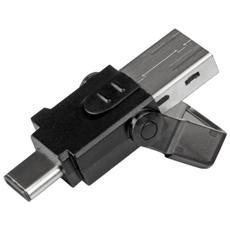 Lettore di Schede MicroSD a USB 3.0 - Adattatore Micro SD a USB-C e USB-A