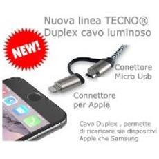 Cavo Ibrido Apple / micro Usb Cavo Luminoso Tecno Tc-123