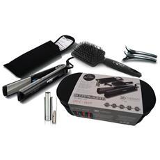 Set Piastra 3D Therapy Bag per Capelli a Caldo 45W Colore Nero / Grigio