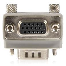 Right Angle VGA / VGA Cable Adapter Type 1 - M / F DB15 DB15 Grigio cavo di interfaccia e adattatore