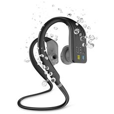 Cuffie Sportive intrauricolari Endurance Dive wireless Bluetooth Resistenti all'acqua con Controlli Touch e Lettore MP3 Colore Nero