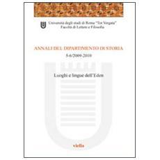 Annali del dipartimento di storia (2009-2010) voll. 5-6
