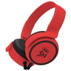 Cuffie Stereo Gum Con Microfono Dj 673 M Rosso