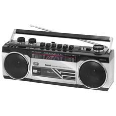 Radio Registratore Bluetooth Trevi Rr 501 Bt Grigio
