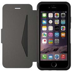 Flip-Cover Custodia Strada Antiurto per iPhone 6/6S - in Pelle Nero