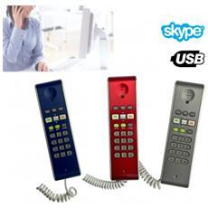 Telefono Usb Voip Compatibile Con Skype Per Chiamare I Tuoi Amici Di Skype - Blu