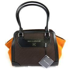 bag '' arancione marrone - [ l9949]