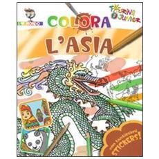 Colora l'Asia. Con adesivi