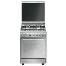 SMEG - Cucina Elettrica CX60SVPZ9 4 Fuochi a Gas Forno...